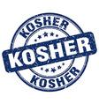 kosher blue grunge round vintage rubber stamp vector image vector image