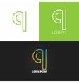letter Q logo alphabet design icon set vector image