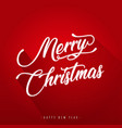 merry christmas with and flat design vector image
