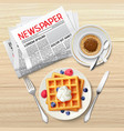 morning newspaper poster vector image