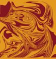 mustard brown liquid marble background vector image vector image