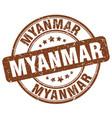 myanmar brown grunge round vintage rubber stamp vector image vector image