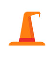 orange witch hat icon vector image