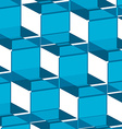 ornate background blue squares vector image vector image
