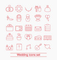 outline web icon set outline web icon set vector image