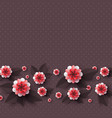 paper cut decorative flowers vector image vector image