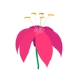 Pink flower icon cartoon style vector image vector image