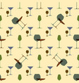 seamless pattern with wine glasses cocktail party vector image vector image