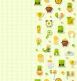 Seamless Vertical Template with Cartoon Colorful vector image vector image