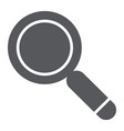 search glyph icon lens and find magnifying glass vector image vector image
