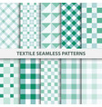 Set of textile seamless patterns