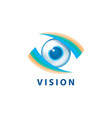 sign in shape eye vector image