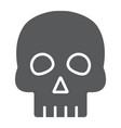 skull glyph icon halloween and horror bones sign vector image vector image