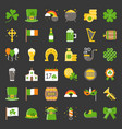 st patrick day related icon flat design vector image vector image