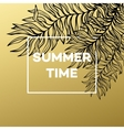 summer tropical background palm leaves and vector image vector image