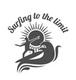 surfing to the limit summer surfing sports vector image
