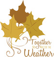 The Weather vector image vector image