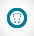 tooth icon bold blue circle border vector image vector image