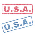 usa textile stamps vector image vector image