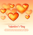 valentine day greeting vector image vector image