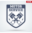 Vintage Motor Service Signs and Label vector image vector image