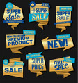vintage style gold and silver sale labels design vector image vector image