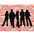 young people retro background vector image vector image