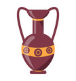 ancient greek vase isolated on white vector image