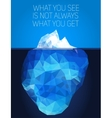 Iceberg under water and above water vector image