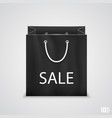 black shopping bags with written sale vector image