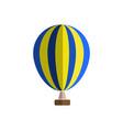 hot air balloon icon cartoon of hot vector image