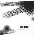 Tire tracks grunge background vector image