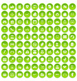 100 mother and child icons set green circle vector image vector image