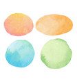 abstract watercolor background circle and oval vector image