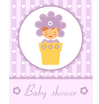 Baby In pot card vector image vector image