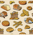 bakery and bread baking breadstuff meal vector image vector image