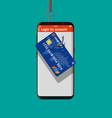 bank card and fishing hook vector image vector image