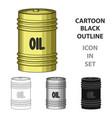 barrel of oiloil single icon in cartoon style vector image vector image