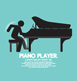 Black Symbol Piano Player vector image