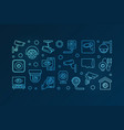 blue cctv and surveillance camera banner vector image vector image