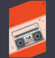 boombox party poster vector image vector image