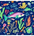 Bright concept underwater seamless pattern vector image vector image
