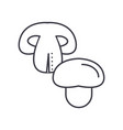 champignon line icon sign on vector image