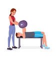 chest press vector image vector image