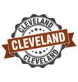 cleveland round ribbon seal vector image vector image