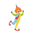 Colorful Friendly Clown With Tie In Classic Outfit vector image vector image