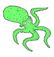 comic cartoon octopus vector image