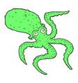 comic cartoon octopus vector image vector image
