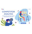 competitor analysis flat landing page template vector image