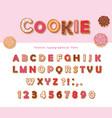 cookie hand drawn decorative font cartoon sweet vector image